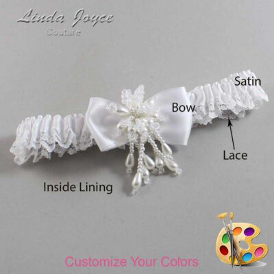 Couture Garters / Custom Wedding Garter / Customizable Wedding Garters / Personalized Wedding Garters / Joelle #09-B31-M38 / Wedding Garters / Bridal Garter / Prom Garter / Linda Joyce Couture