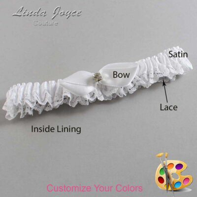 Couture Garters / Custom Wedding Garter / Customizable Wedding Garters / Personalized Wedding Garters / Trudy #09-B41-M03 / Wedding Garters / Bridal Garter / Prom Garter / Linda Joyce Couture