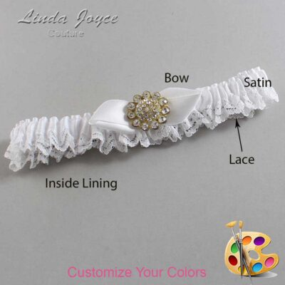 Couture Garters / Custom Wedding Garter / Customizable Wedding Garters / Personalized Wedding Garters / Zelda #09-B41-M12 / Wedding Garters / Bridal Garter / Prom Garter / Linda Joyce Couture