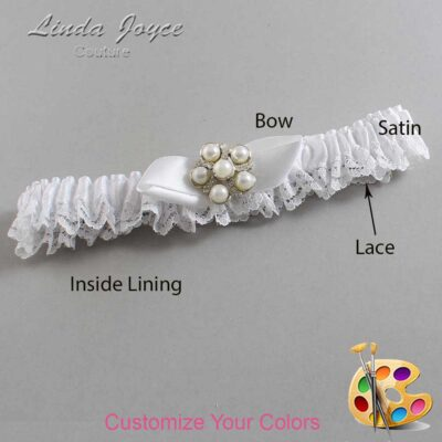 Couture Garters / Custom Wedding Garter / Customizable Wedding Garters / Personalized Wedding Garters / Wendy #09-B41-M13 / Wedding Garters / Bridal Garter / Prom Garter / Linda Joyce Couture
