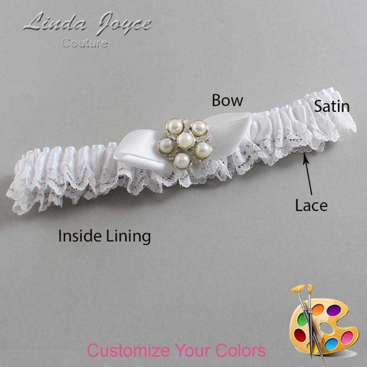 Couture Garters / Custom Wedding Garter / Customizable Wedding Garters / Personalized Wedding Garters / Wendy #09-B41-M13 / Wedding Garters / Bridal Garter / Prom Garter / Linda Joyce Couture