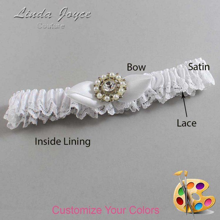Couture Garters / Custom Wedding Garter / Customizable Wedding Garters / Personalized Wedding Garters / Drew #09-B41-M14 / Wedding Garters / Bridal Garter / Prom Garter / Linda Joyce Couture
