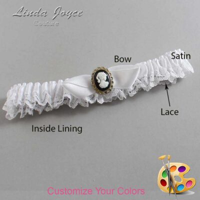 Couture Garters / Custom Wedding Garter / Customizable Wedding Garters / Personalized Wedding Garters / Bernice #09-B41-M15 / Wedding Garters / Bridal Garter / Prom Garter / Linda Joyce Couture