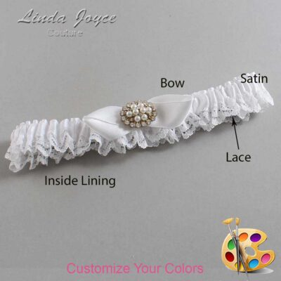 Couture Garters / Custom Wedding Garter / Customizable Wedding Garters / Personalized Wedding Garters / Tonya #09-B41-M16 / Wedding Garters / Bridal Garter / Prom Garter / Linda Joyce Couture