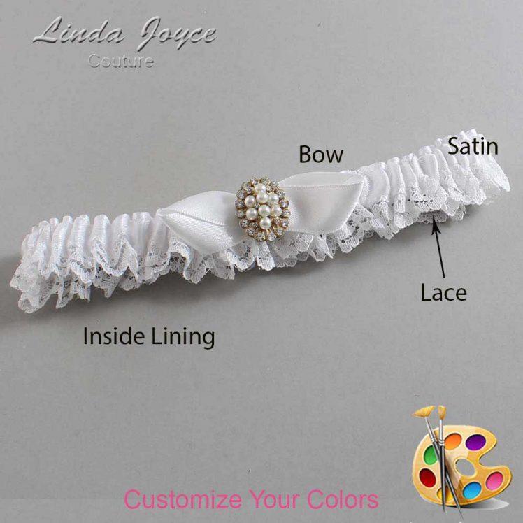 Couture Garters / Custom Wedding Garter / Customizable Wedding Garters / Personalized Wedding Garters / Suellen #09-B41-M17 / Wedding Garters / Bridal Garter / Prom Garter / Linda Joyce Couture