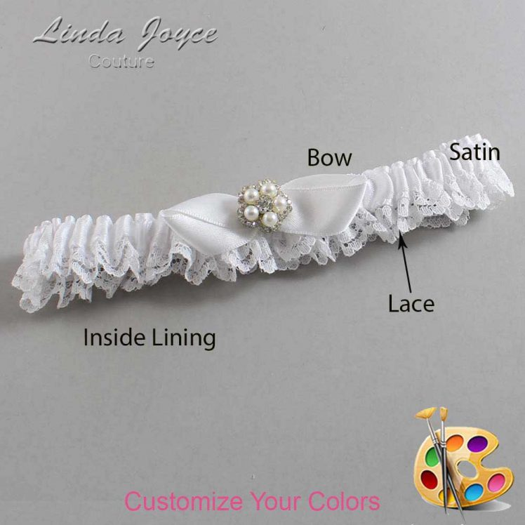 Couture Garters / Custom Wedding Garter / Customizable Wedding Garters / Personalized Wedding Garters / Clara #09-B41-M20 / Wedding Garters / Bridal Garter / Prom Garter / Linda Joyce Couture