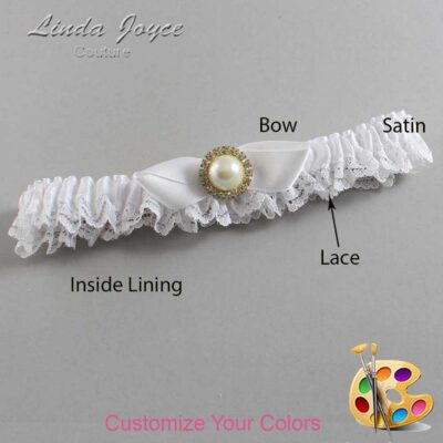 Couture Garters / Custom Wedding Garter / Customizable Wedding Garters / Personalized Wedding Garters / Vickie #09-B41-M21 / Wedding Garters / Bridal Garter / Prom Garter / Linda Joyce Couture