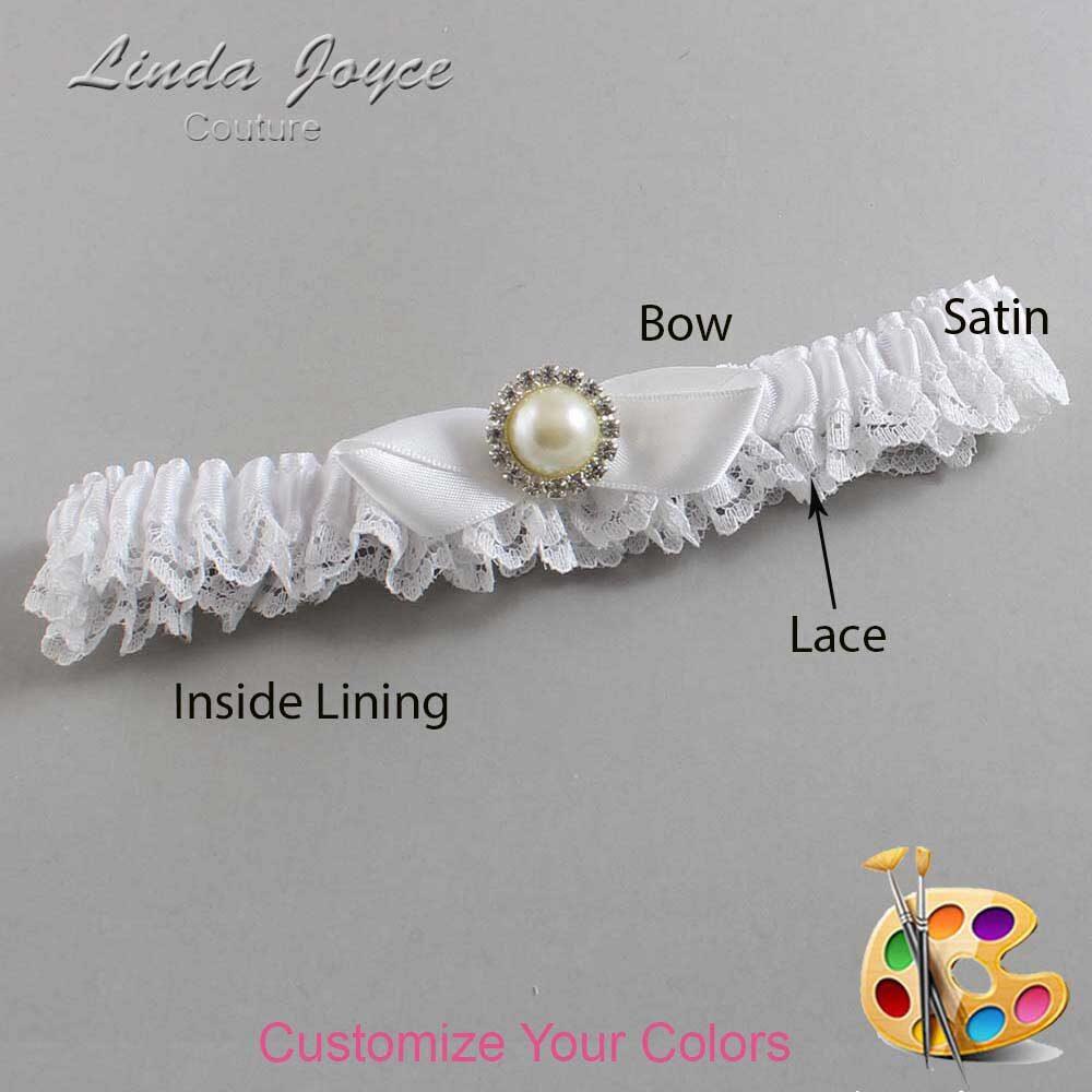 Customizable Wedding Garter / Vickie #09-B41-M22-Silver