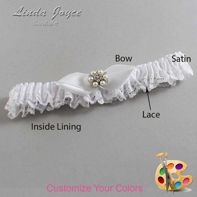 Couture Garters / Custom Wedding Garter / Customizable Wedding Garters / Personalized Wedding Garters / Virginia #09-B41-M23 / Wedding Garters / Bridal Garter / Prom Garter / Linda Joyce Couture