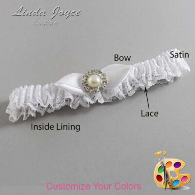 Couture Garters / Custom Wedding Garter / Customizable Wedding Garters / Personalized Wedding Garters / Tera #09-B41-M24 / Wedding Garters / Bridal Garter / Prom Garter / Linda Joyce Couture