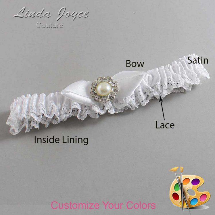 Couture Garters / Custom Wedding Garter / Customizable Wedding Garters / Personalized Wedding Garters / Tera #09-B41-M24 / Wedding Garters / Bridal Garter / Prom Garter / Linda Joyce Couture