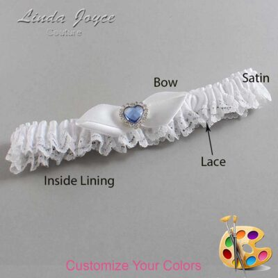 Couture Garters / Custom Wedding Garter / Customizable Wedding Garters / Personalized Wedding Garters / Tess #09-B41-M25 / Wedding Garters / Bridal Garter / Prom Garter / Linda Joyce Couture