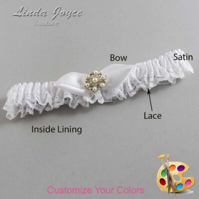 Couture Garters / Custom Wedding Garter / Customizable Wedding Garters / Personalized Wedding Garters / Susan #09-B41-M27 / Wedding Garters / Bridal Garter / Prom Garter / Linda Joyce Couture