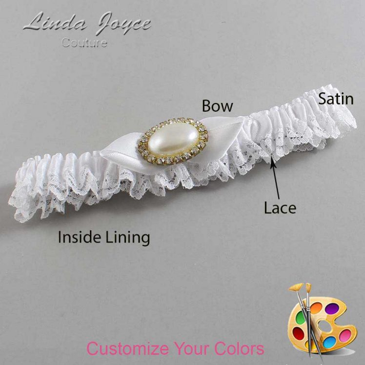 Couture Garters / Custom Wedding Garter / Customizable Wedding Garters / Personalized Wedding Garters / Teresa #09-B41-M28 / Wedding Garters / Bridal Garter / Prom Garter / Linda Joyce Couture