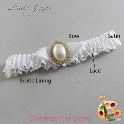 Couture Garters / Custom Wedding Garter / Customizable Wedding Garters / Personalized Wedding Garters / Sonya #09-B41-M29 / Wedding Garters / Bridal Garter / Prom Garter / Linda Joyce Couture