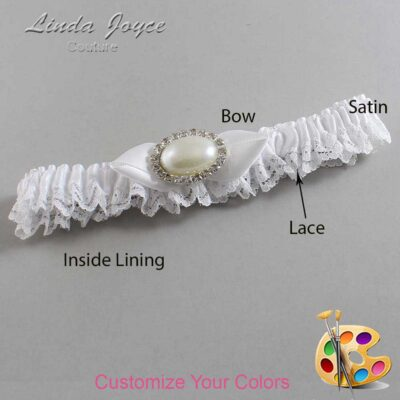 Couture Garters / Custom Wedding Garter / Customizable Wedding Garters / Personalized Wedding Garters / Teresa #09-B41-M30 / Wedding Garters / Bridal Garter / Prom Garter / Linda Joyce Couture