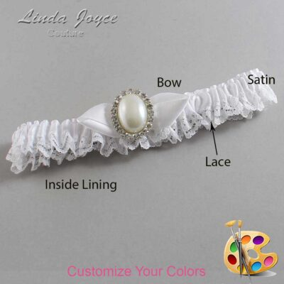 Couture Garters / Custom Wedding Garter / Customizable Wedding Garters / Personalized Wedding Garters / Sonya #09-B41-M31 / Wedding Garters / Bridal Garter / Prom Garter / Linda Joyce Couture