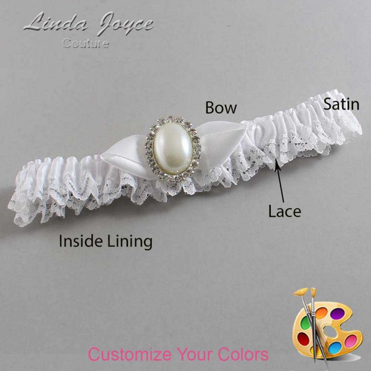 Couture Garters / Custom Wedding Garter / Customizable Wedding Garters / Personalized Wedding Garters / Sonya #09-B41-M31 / Wedding Garters / Bridal Garter / Prom Garter / Linda Joyce Couture