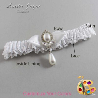 Couture Garters / Custom Wedding Garter / Customizable Wedding Garters / Personalized Wedding Garters / Clarissa #09-B41-M32 / Wedding Garters / Bridal Garter / Prom Garter / Linda Joyce Couture
