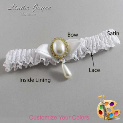 Couture Garters / Custom Wedding Garter / Customizable Wedding Garters / Personalized Wedding Garters / Sybil #09-B41-M34 / Wedding Garters / Bridal Garter / Prom Garter / Linda Joyce Couture