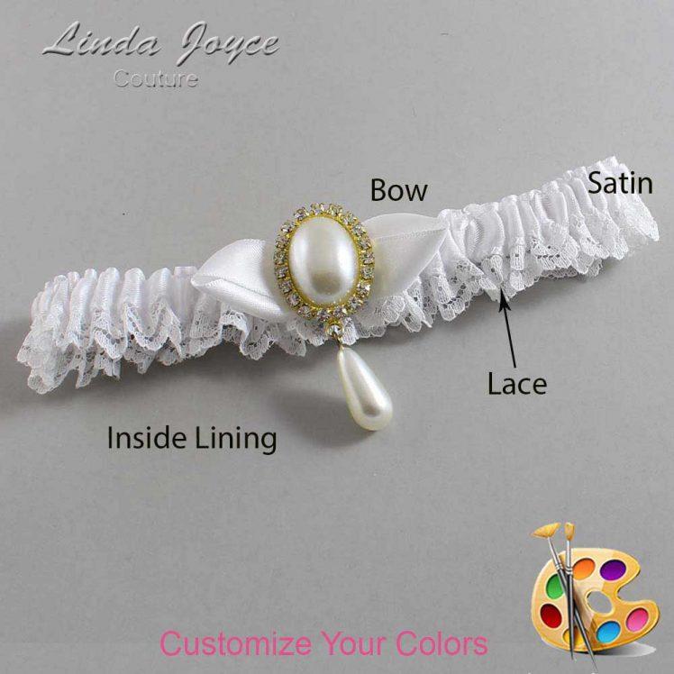 Couture Garters / Custom Wedding Garter / Customizable Wedding Garters / Personalized Wedding Garters / Sybil #09-B41-M34 / Wedding Garters / Bridal Garter / Prom Garter / Linda Joyce Couture