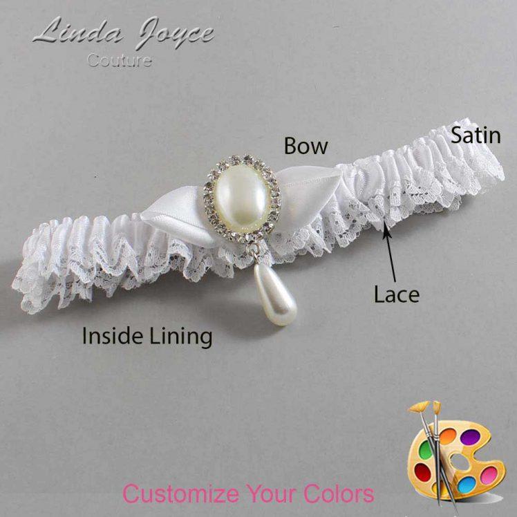 Couture Garters / Custom Wedding Garter / Customizable Wedding Garters / Personalized Wedding Garters / Sybil #09-B41-M35 / Wedding Garters / Bridal Garter / Prom Garter / Linda Joyce Couture