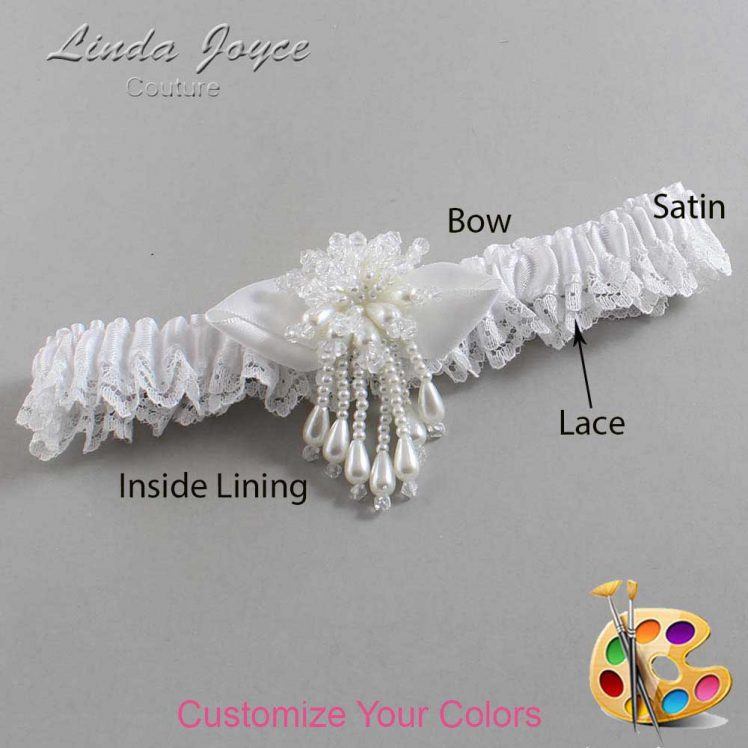 Couture Garters / Custom Wedding Garter / Customizable Wedding Garters / Personalized Wedding Garters / Tammy #09-B41-M38 / Wedding Garters / Bridal Garter / Prom Garter / Linda Joyce Couture