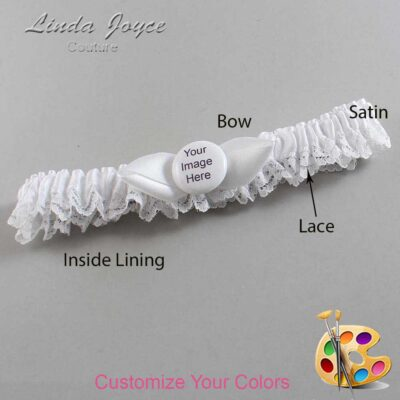 Couture Garters / Custom Wedding Garter / Customizable Wedding Garters / Personalized Wedding Garters / Custom Button #09-B41-M44 / Wedding Garters / Bridal Garter / Prom Garter / Linda Joyce Couture