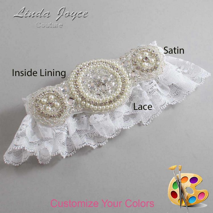 Couture Garters / Custom Wedding Garter / Customizable Wedding Garters / Personalized Wedding Garters / Linda #10-A00 / Wedding Garters / Bridal Garter / Prom Garter / Linda Joyce Couture