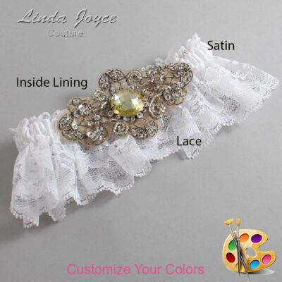 Couture Garters / Custom Wedding Garter / Customizable Wedding Garters / Personalized Wedding Garters / Bijou # 10-A10-Antique / Wedding Garters / Bridal Garter / Prom Garter / Linda Joyce Couture