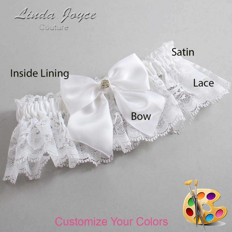 Couture Garters / Custom Wedding Garter / Customizable Wedding Garters / Personalized Wedding Garters / Pamela #10-B01-M03 / Wedding Garters / Bridal Garter / Prom Garter / Linda Joyce Couture