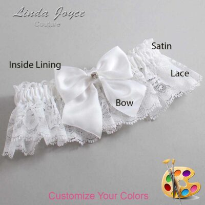 Couture Garters / Custom Wedding Garter / Customizable Wedding Garters / Personalized Wedding Garters / Pamela #10-B01-M04 / Wedding Garters / Bridal Garter / Prom Garter / Linda Joyce Couture