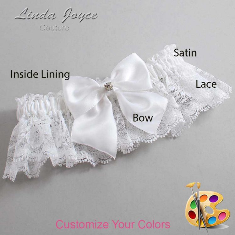 Couture Garters / Custom Wedding Garter / Customizable Wedding Garters / Personalized Wedding Garters / Pamela #10-B01-M04 / Wedding Garters / Bridal Garter / Prom Garter / Linda Joyce Couture