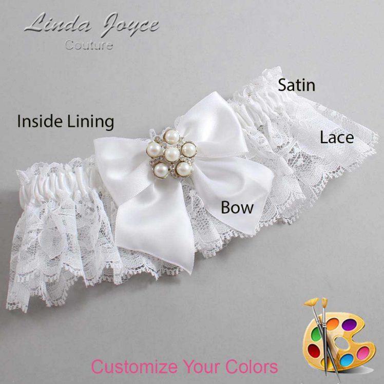 Couture Garters / Custom Wedding Garter / Customizable Wedding Garters / Personalized Wedding Garters / Monica #10-B01-M13 / Wedding Garters / Bridal Garter / Prom Garter / Linda Joyce Couture