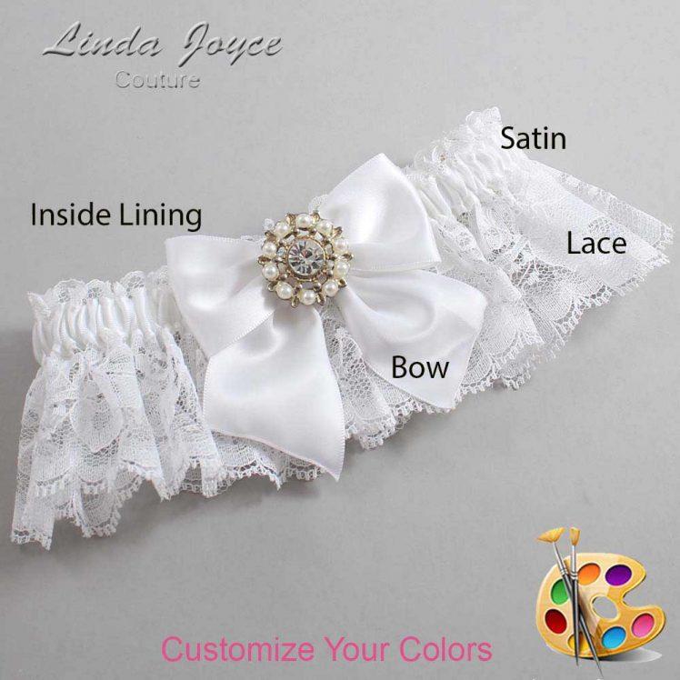 Couture Garters / Custom Wedding Garter / Customizable Wedding Garters / Personalized Wedding Garters / Adelle #10-B01-M14 / Wedding Garters / Bridal Garter / Prom Garter / Linda Joyce Couture