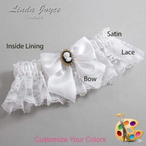 Couture Garters / Custom Wedding Garter / Customizable Wedding Garters / Personalized Wedding Garters / Amy #10-B01-M15 / Wedding Garters / Bridal Garter / Prom Garter / Linda Joyce Couture
