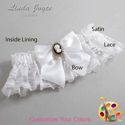 Couture Garters / Custom Wedding Garter / Customizable Wedding Garters / Personalized Wedding Garters / Amy #10-B01-M15 / Wedding Garters / Bridal Garter / Prom Garter / Linda Joyce Couture