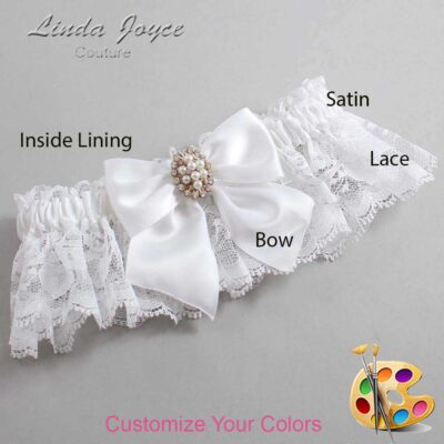 Customizable Wedding Garter / Annie #10-B01-M17-Gold