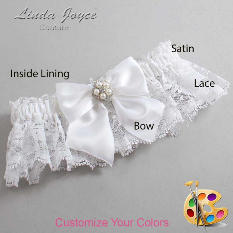 Couture Garters / Custom Wedding Garter / Customizable Wedding Garters / Personalized Wedding Garters / Kourtney #10-B01-M20 / Wedding Garters / Bridal Garter / Prom Garter / Linda Joyce Couture