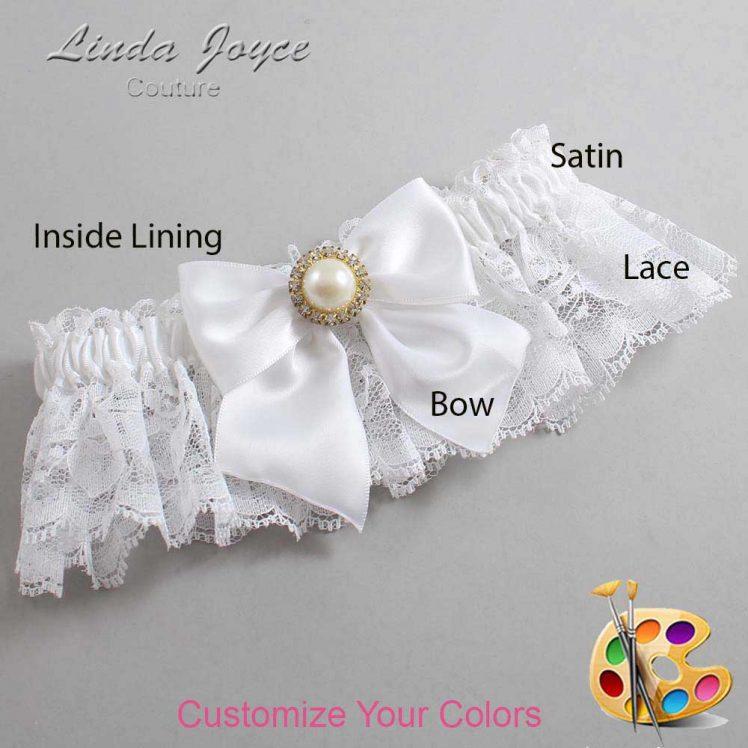 Couture Garters / Custom Wedding Garter / Customizable Wedding Garters / Personalized Wedding Garters / Paige #10-B01-M21 / Wedding Garters / Bridal Garter / Prom Garter / Linda Joyce Couture