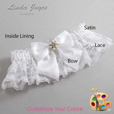 Couture Garters / Custom Wedding Garter / Customizable Wedding Garters / Personalized Wedding Garters / Naomi #10-B01-M23 / Wedding Garters / Bridal Garter / Prom Garter / Linda Joyce Couture