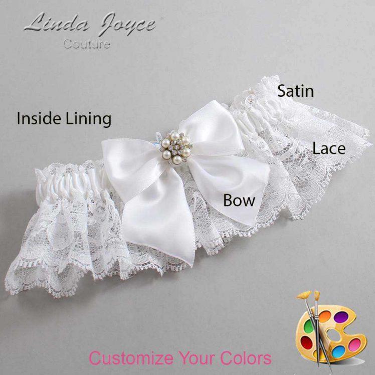 Couture Garters / Custom Wedding Garter / Customizable Wedding Garters / Personalized Wedding Garters / Naomi #10-B01-M23 / Wedding Garters / Bridal Garter / Prom Garter / Linda Joyce Couture