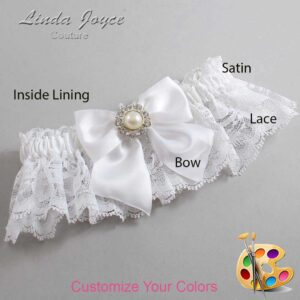 Couture Garters / Custom Wedding Garter / Customizable Wedding Garters / Personalized Wedding Garters / Amanda #10-B01-M24 / Wedding Garters / Bridal Garter / Prom Garter / Linda Joyce Couture