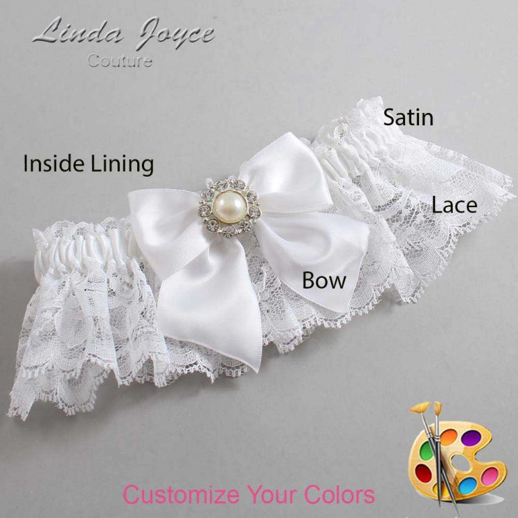 Couture Garters / Custom Wedding Garter / Customizable Wedding Garters / Personalized Wedding Garters / Amanda #10-B01-M24 / Wedding Garters / Bridal Garter / Prom Garter / Linda Joyce Couture