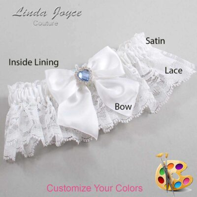 Couture Garters / Custom Wedding Garter / Customizable Wedding Garters / Personalized Wedding Garters / Kittie #10-B01-M25 / Wedding Garters / Bridal Garter / Prom Garter / Linda Joyce Couture