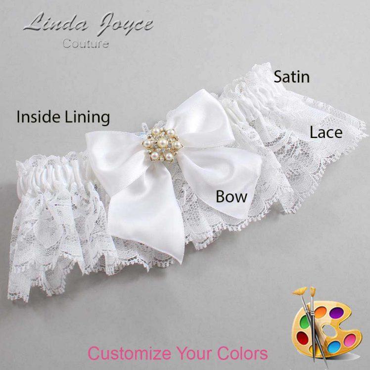 Couture Garters / Custom Wedding Garter / Customizable Wedding Garters / Personalized Wedding Garters / Larissa #10-B01-M27 / Wedding Garters / Bridal Garter / Prom Garter / Linda Joyce Couture
