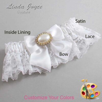 Couture Garters / Custom Wedding Garter / Customizable Wedding Garters / Personalized Wedding Garters / Nicole #10-B01-M28 / Wedding Garters / Bridal Garter / Prom Garter / Linda Joyce Couture