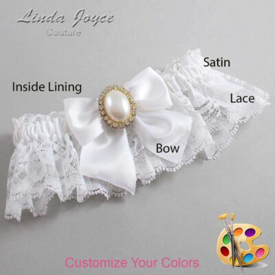 Couture Garters / Custom Wedding Garter / Customizable Wedding Garters / Personalized Wedding Garters / Maggie #10-B01-M29 / Wedding Garters / Bridal Garter / Prom Garter / Linda Joyce Couture
