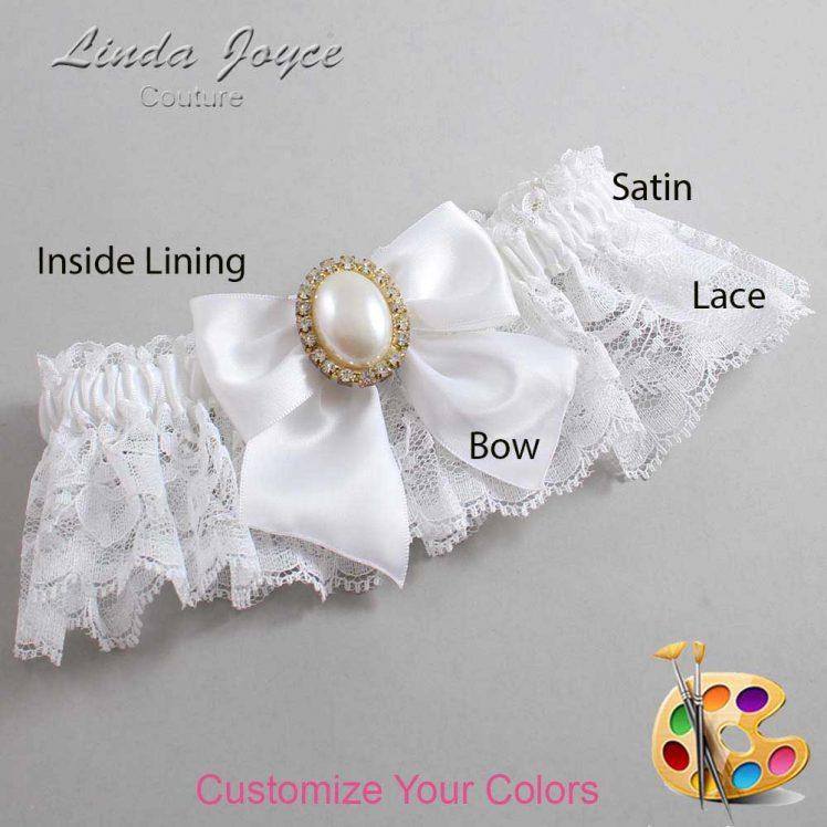 Couture Garters / Custom Wedding Garter / Customizable Wedding Garters / Personalized Wedding Garters / Maggie #10-B01-M29 / Wedding Garters / Bridal Garter / Prom Garter / Linda Joyce Couture