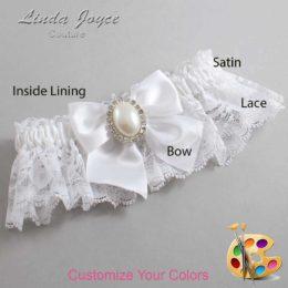 Customizable Wedding Garter / Maggie #10-B01-M31-Silver